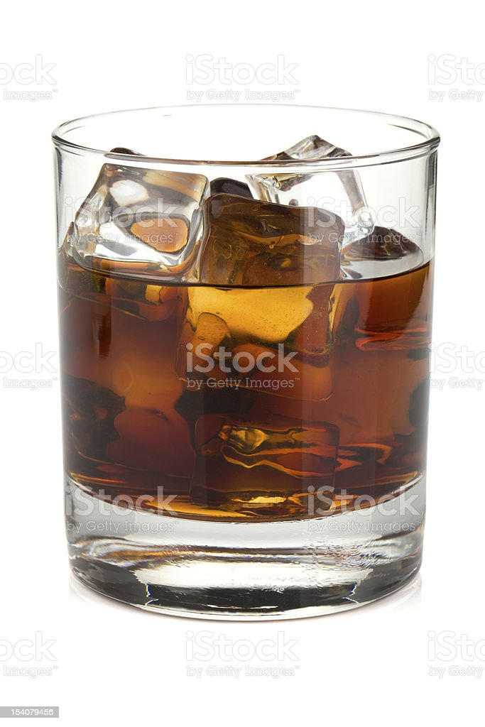 Whiskey cola cocktail royalty-free stock photo
