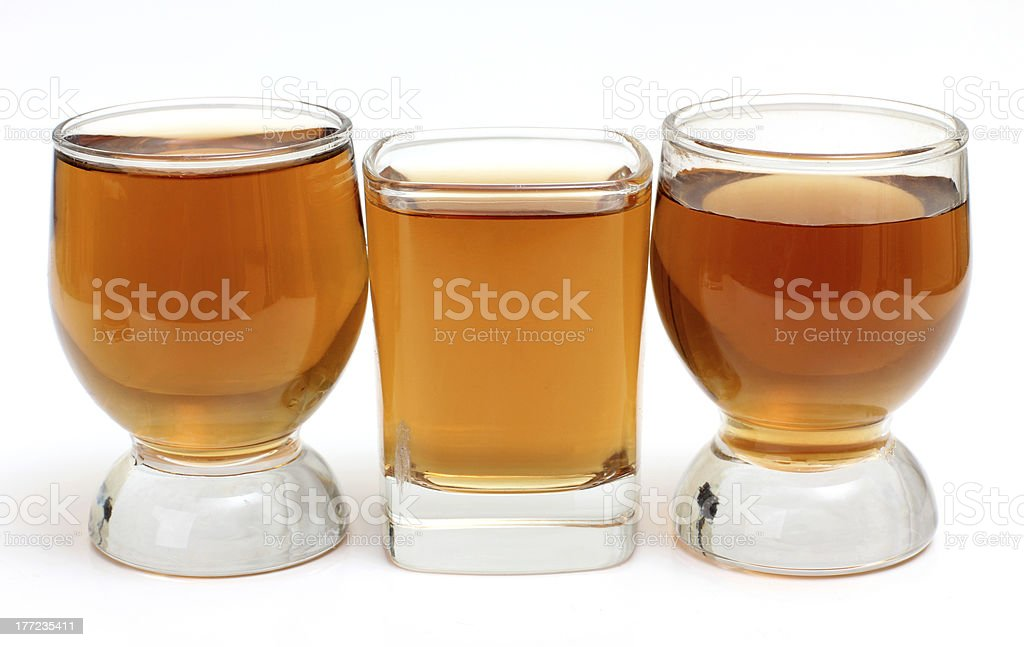 Whiskey cups royalty-free stock photo