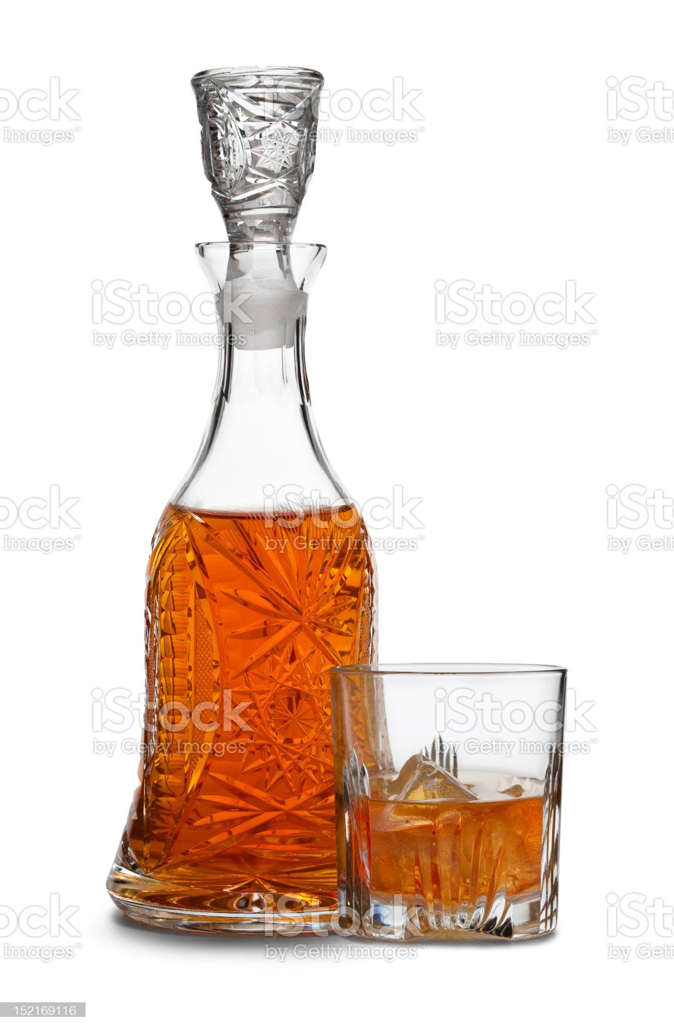 Whiskey decanter royalty-free stock photo
