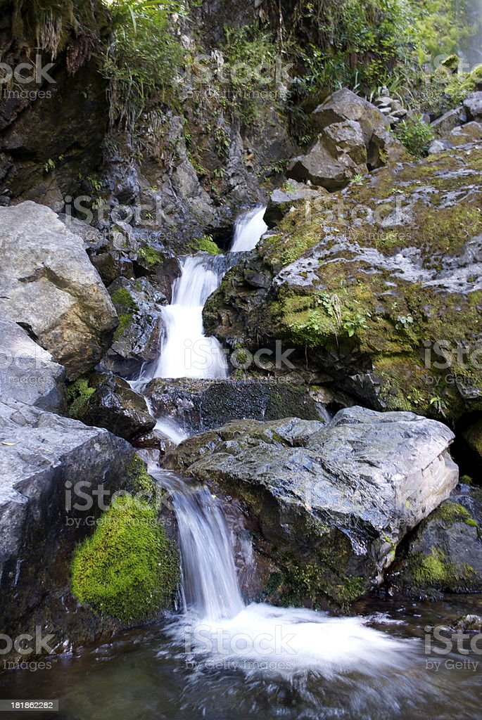 Whiskey Falls, Nelson Lakes National Park, NZ royalty-free stock photo