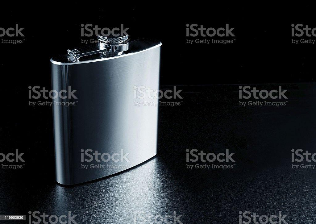 Whiskey flask royalty-free stock photo