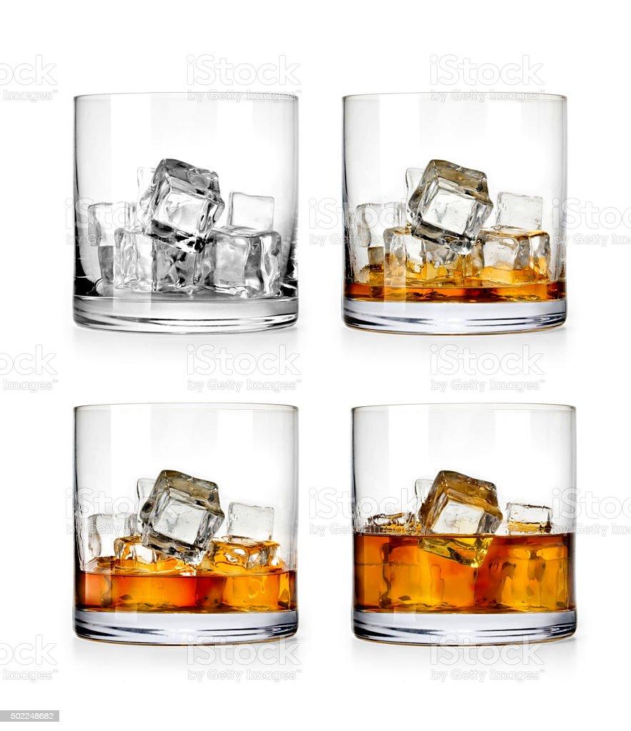 Whiskey glass stock photo