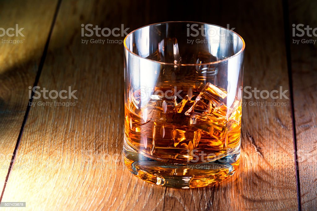 Whiskey glass stock photo