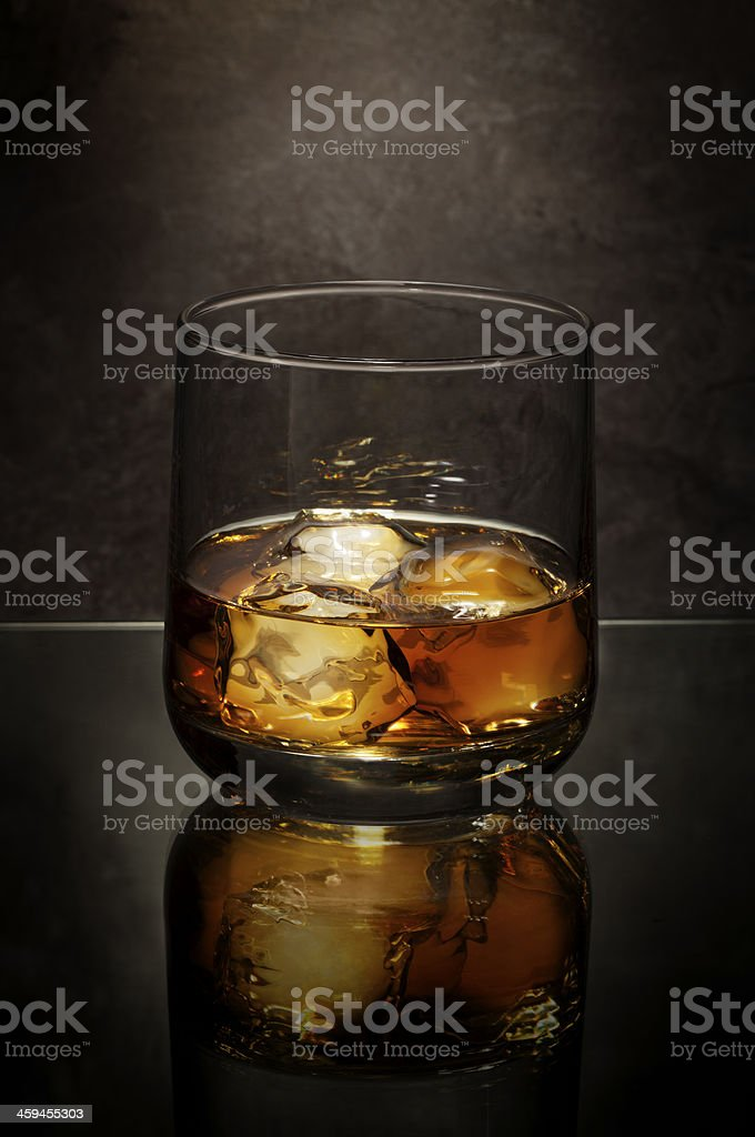 Whiskey Glass With Ice royalty-free stock photo