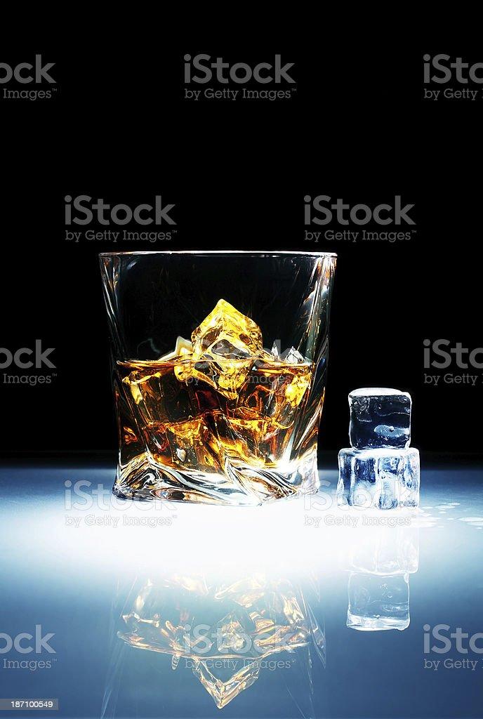 Whiskey ice royalty-free stock photo