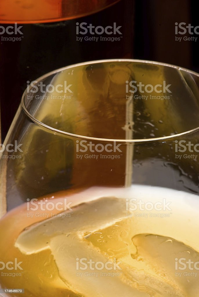whiskey in a glass royalty-free stock photo