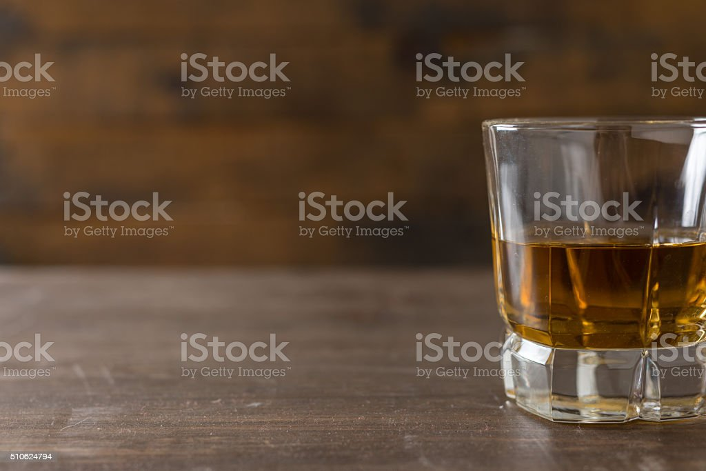 Whiskey in a glass stock photo