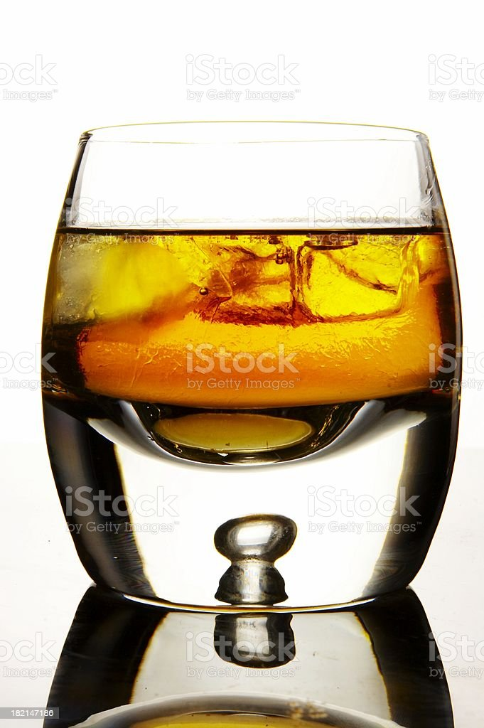Whiskey in the glass stock photo