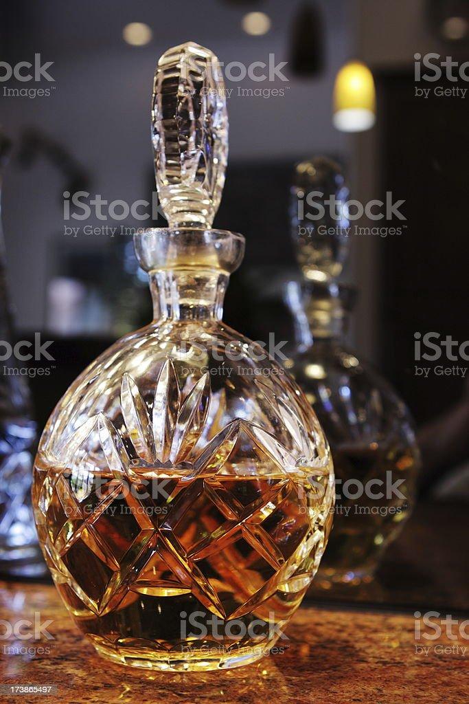 Whiskey Liquor Alcohol Decanter royalty-free stock photo