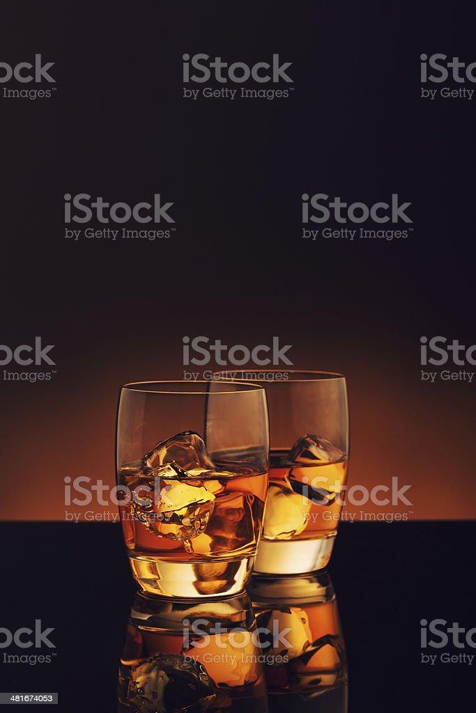 Whiskey on Ice royalty-free stock photo