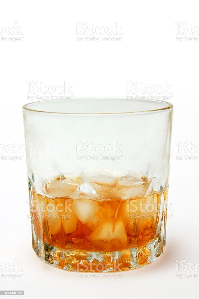 Whiskey on the rocks royalty-free stock photo
