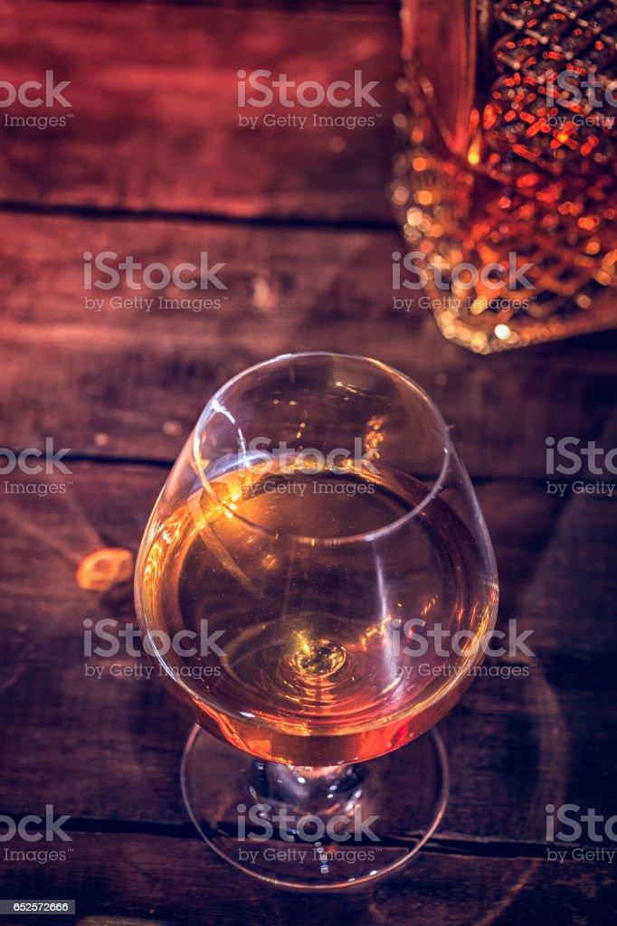 Whiskey on The Rocks stock photo