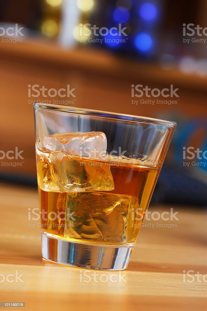 Whiskey on the table stock photo