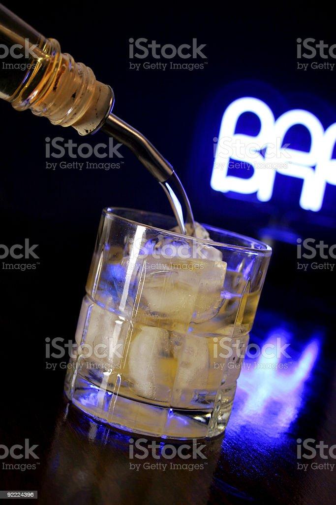 whiskey Pour royalty-free stock photo