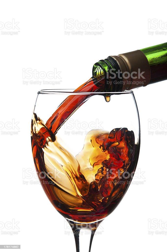 whiskey pouring royalty-free stock photo