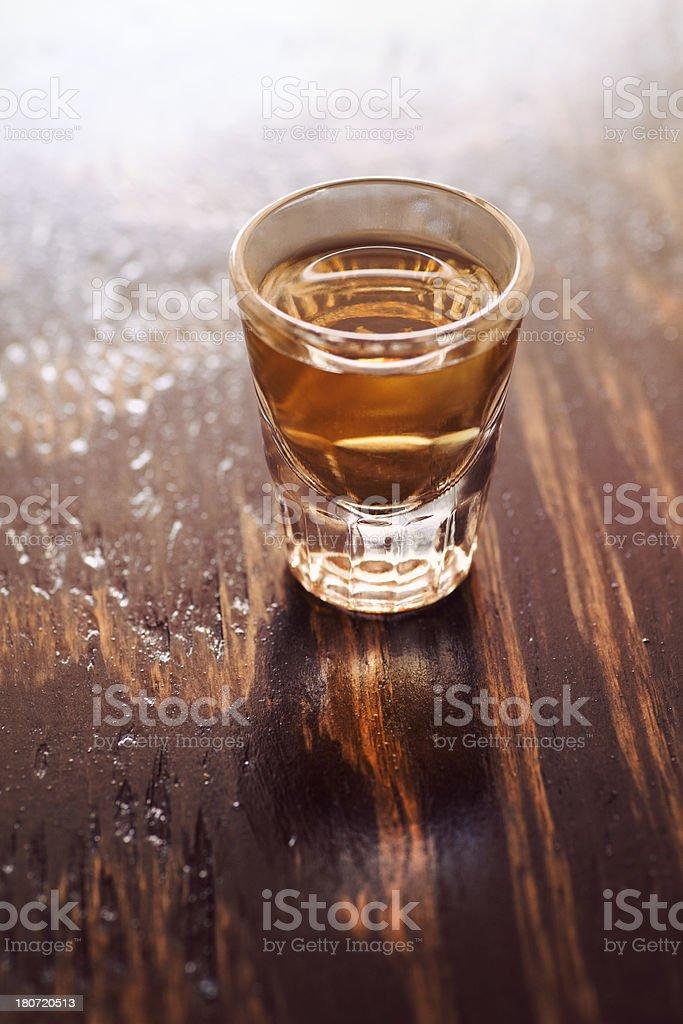 Whiskey shot royalty-free stock photo