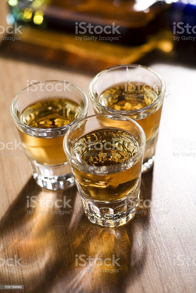 whiskey shots royalty-free stock photo