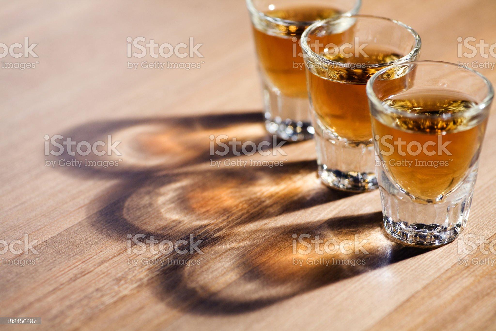 whiskey shots royalty-free stock photo