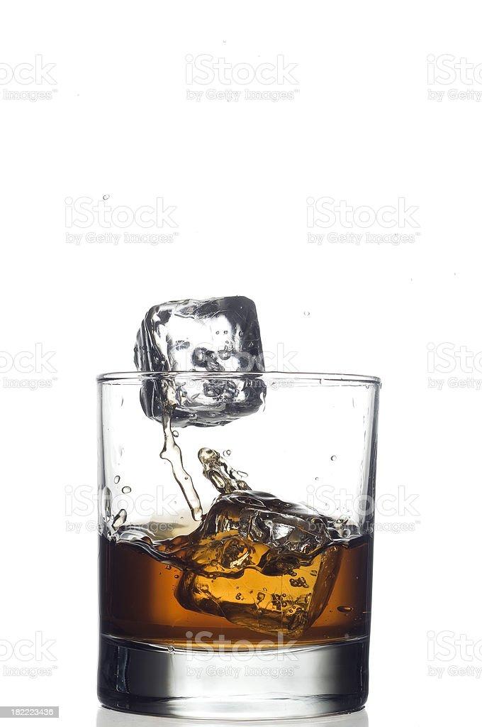 Whiskey splash royalty-free stock photo