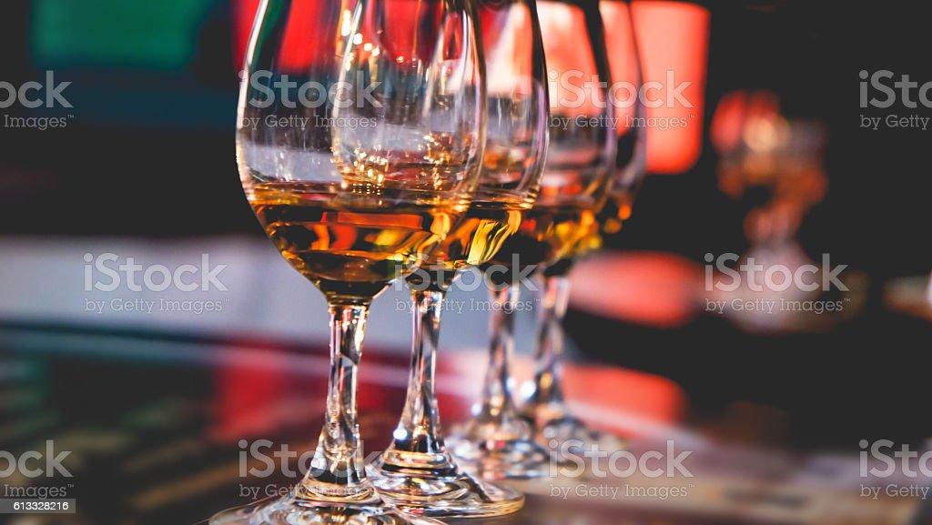 Whiskey tasting stock photo