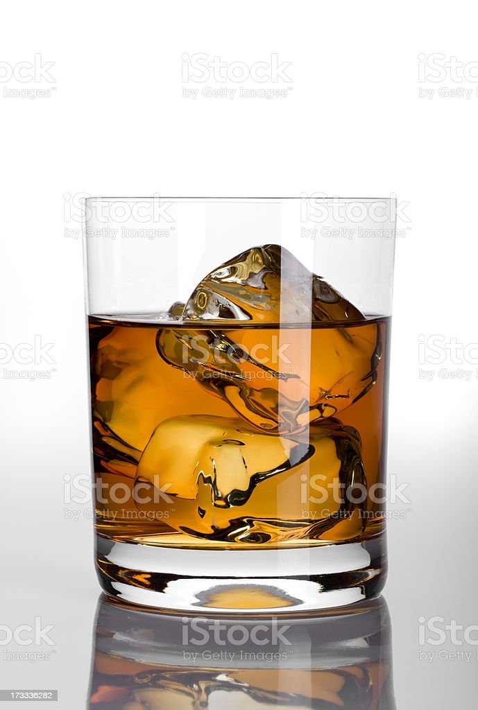 Whiskey with Path royalty-free stock photo