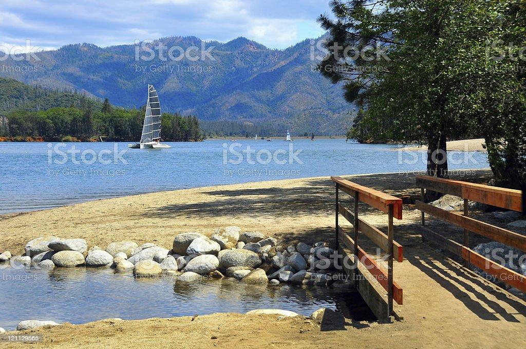Whiskeytown Lake, Northern California stock photo