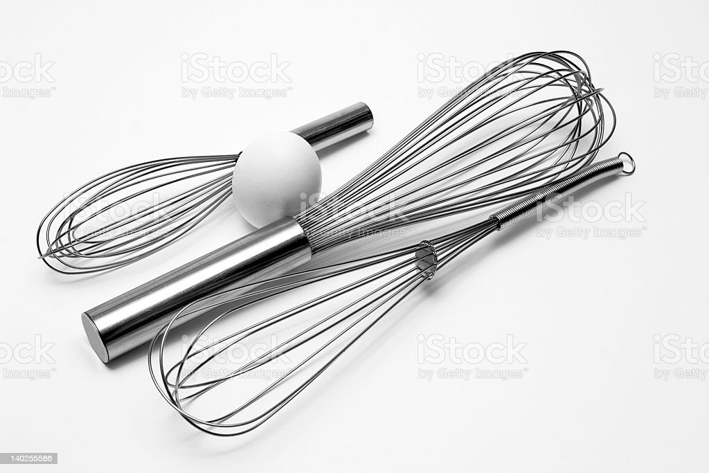 Whisks with Egg royalty-free stock photo