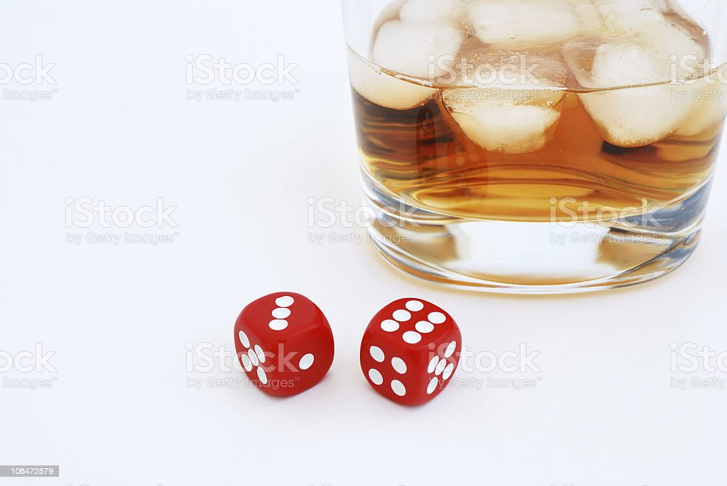 Whisky and dices royalty-free stock photo