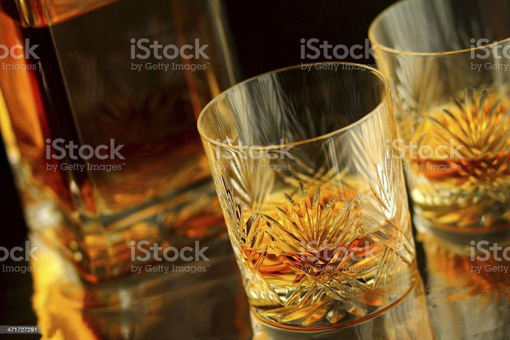 Whisky At The Bar stock photo