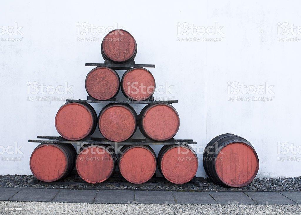 Whisky Barrel's royalty-free stock photo