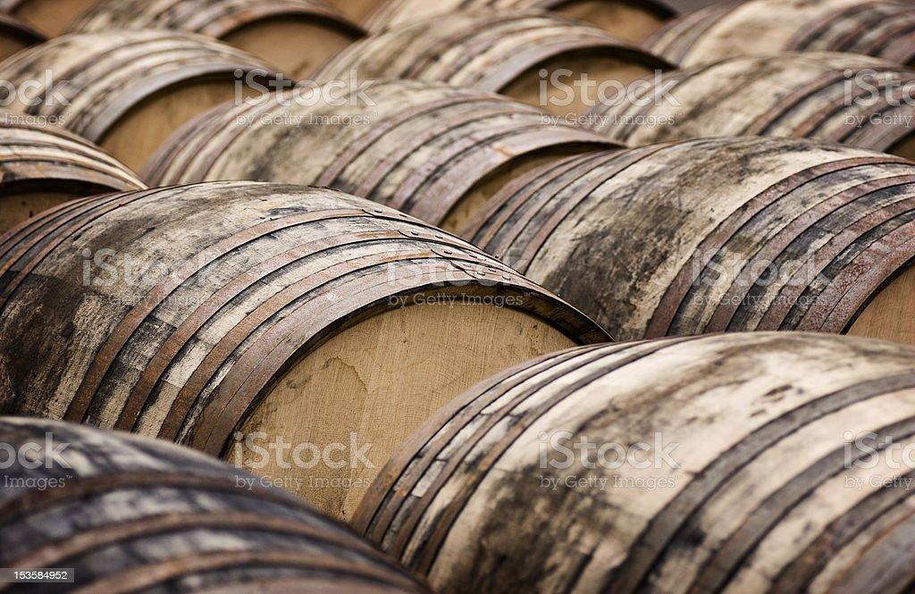 Whisky Casks royalty-free stock photo