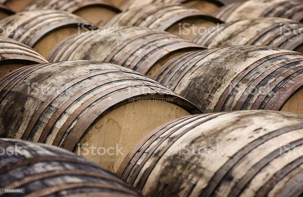 Whisky Casks stock photo