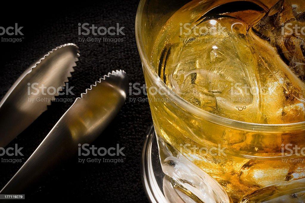 whisky con hielo royalty-free stock photo