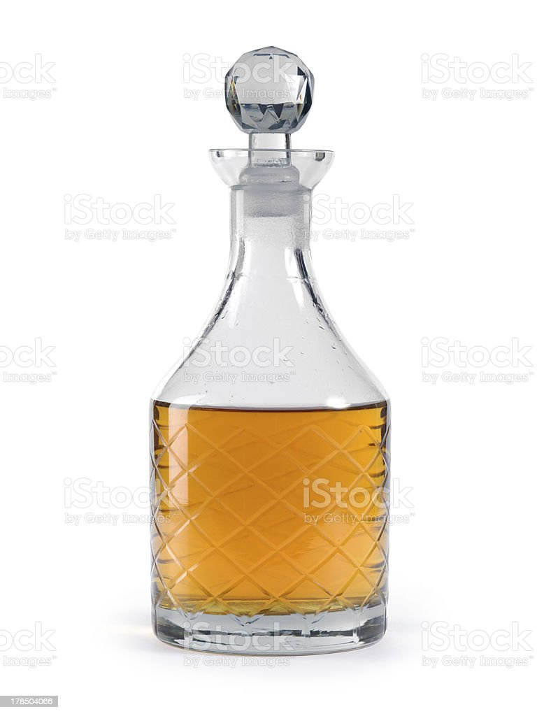 Whisky decanter royalty-free stock photo
