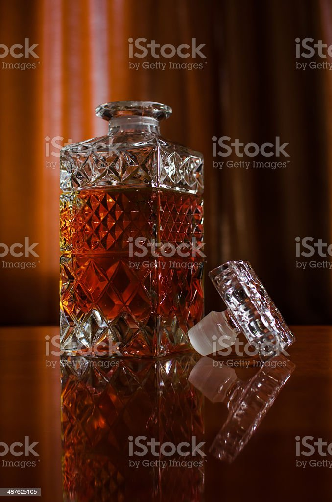 Whisky Decanter sem tampa foto royalty-free