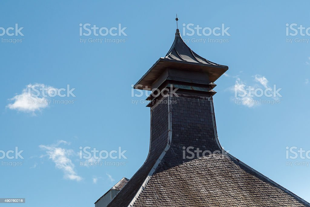 Whisky distillery pagoda stock photo