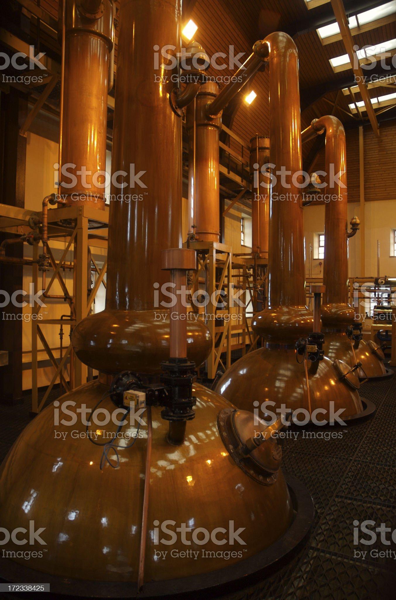 Whisky distillery royalty-free stock photo
