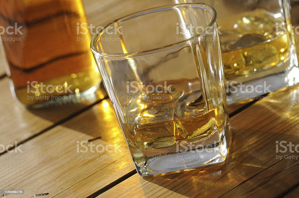 Whisky Drinking Time royalty-free stock photo