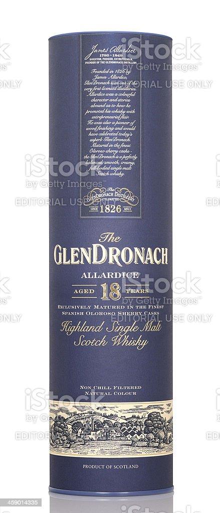 whisky Glentonach 18 years royalty-free stock photo