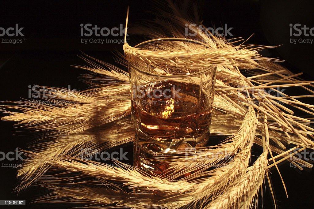 Whisky on dark stock photo