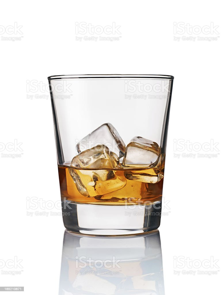 whisky on rock stock photo