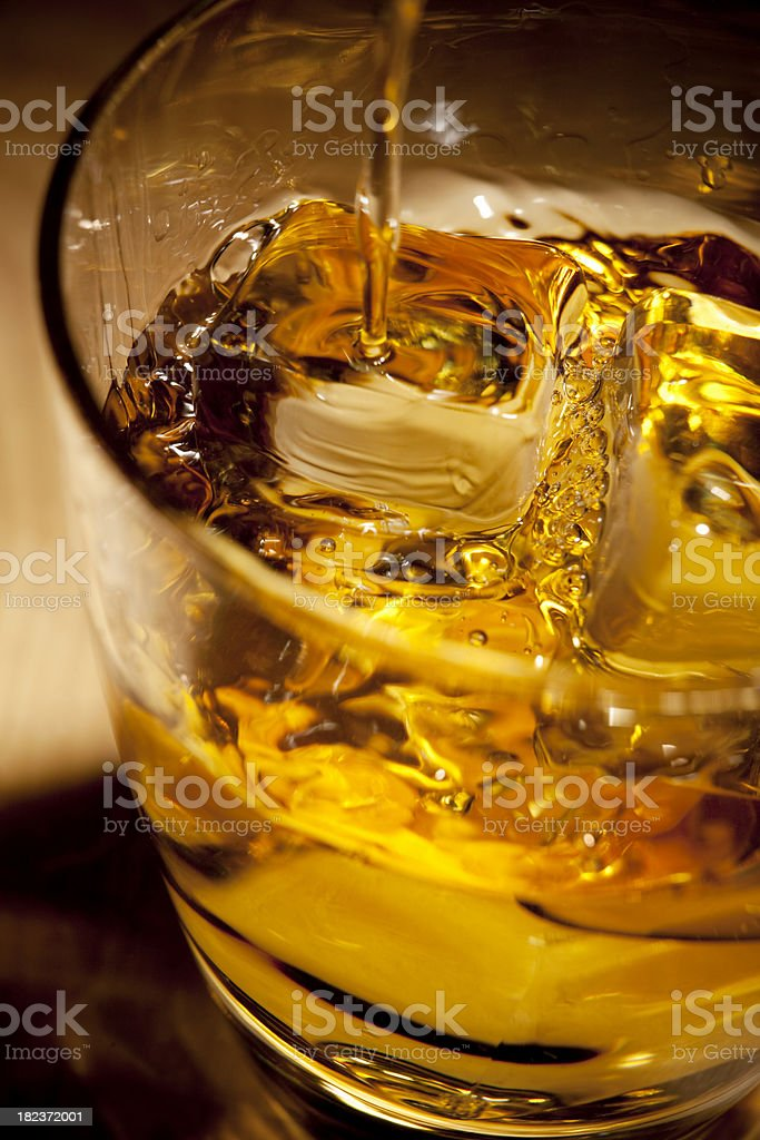 Whisky Pouring royalty-free stock photo