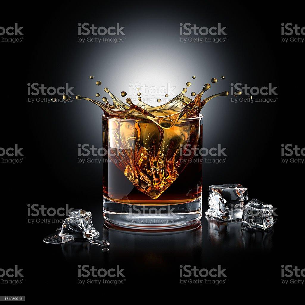 Whisky Splash stock photo