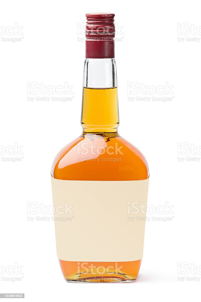 Whisky with blank label stock photo