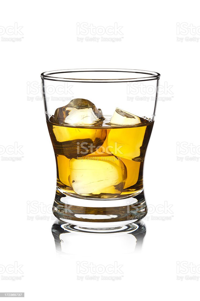 Whisky with Ice Cubes royalty-free stock photo