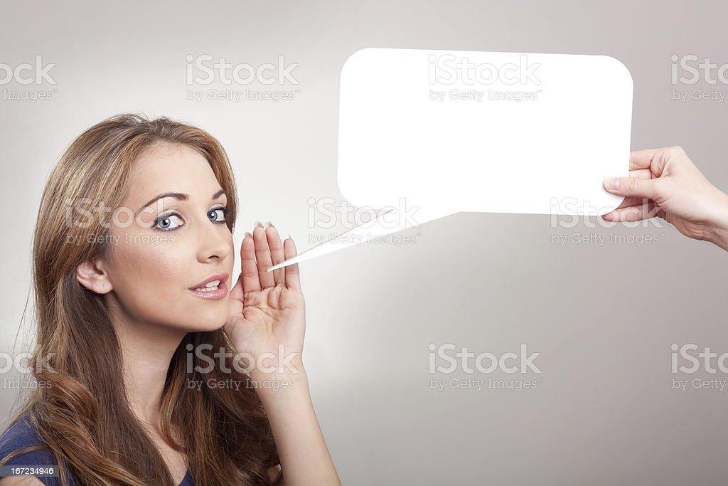 Whisper royalty-free stock photo
