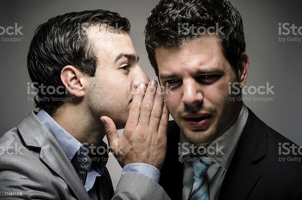 Whisper Words stock photo