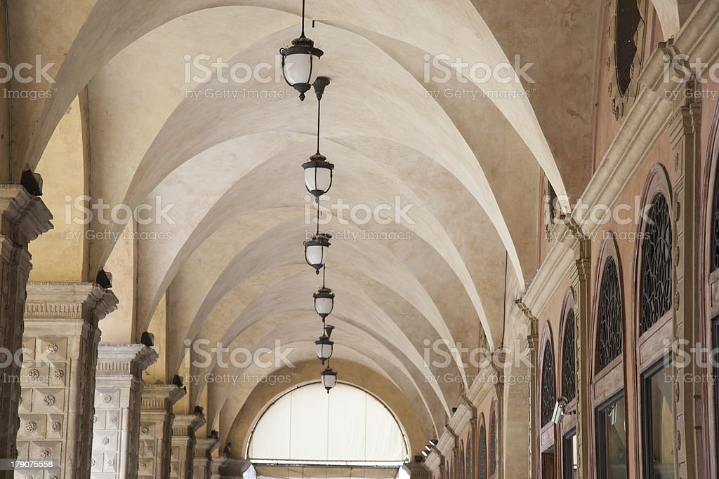 Whispering Gallery, Bologna stock photo