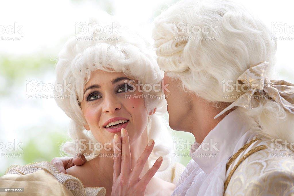 Whispering royalty-free stock photo