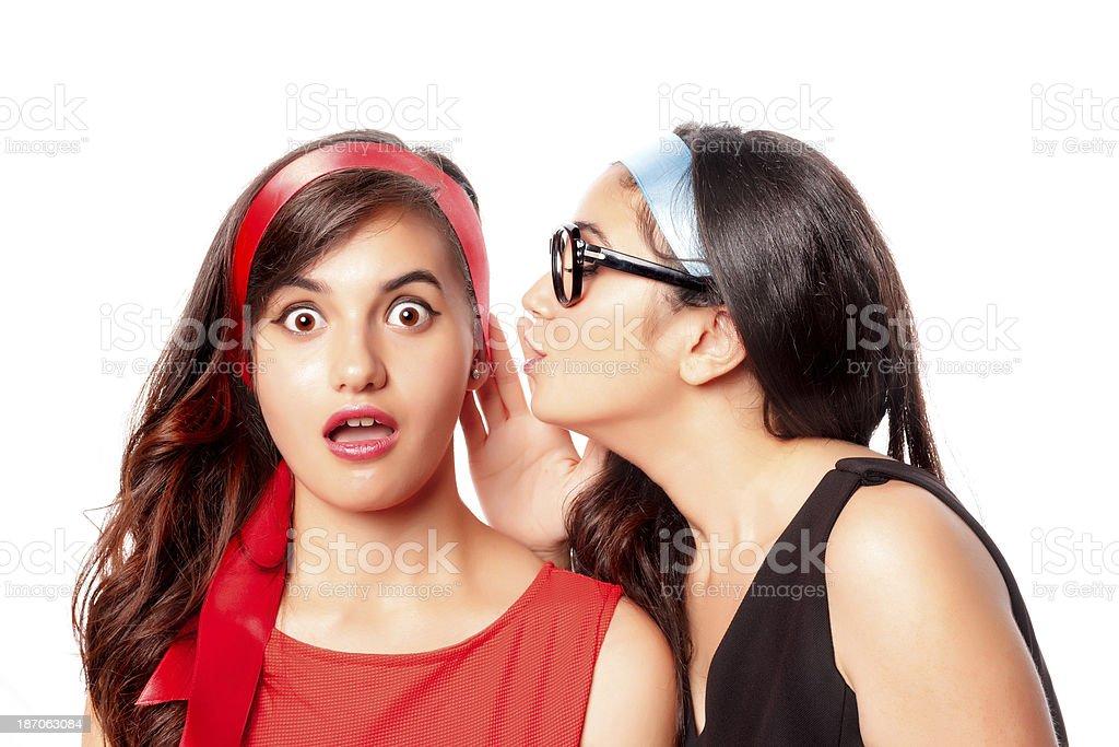Whispering stock photo